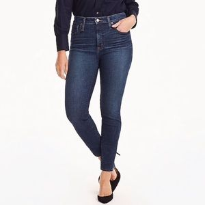 J. Crew curvy fit high rise toothpick jeans
